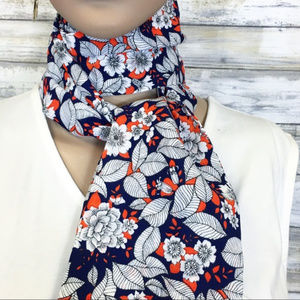 'Yeah, Baby, Yeah' Retro Floral Narrow Scarf